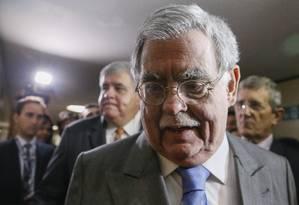 O advogado de defesa do presidente Temer Antonio Mariz Foto: André Coelho / Agência O Globo / 10-7-17