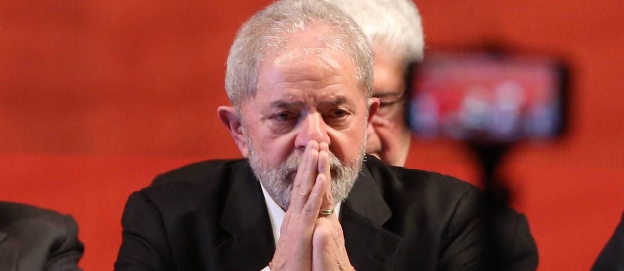 O ex-presidente Luiz Inácio Lula da Silva Foto: Givaldo Barbosa / Agência O Globo / 5-6-17