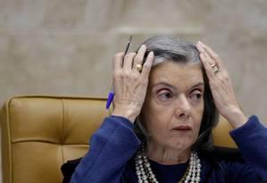 A presidente do STF, ministra Cármen Lúcia Foto: Ueslei Marcelino / Reuters/31-5-17