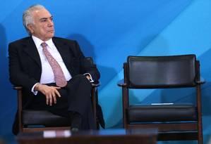 O presidente Michel Temer Foto: Jorge William / Agência O Globo / 11-7-17