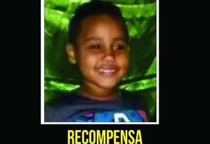 O cartaz do Disque-Denúncia (21 2253-1177) Foto: Divulgação