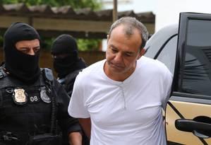 Ex-assessor de Cabral afirma ter transportado dinheiro de campanha. Na foto, o ex-governador Foto: Geraldo Bubniak / Agência O Globo