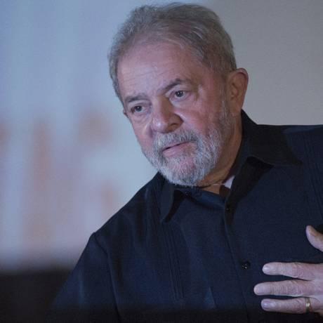 O ex-presidente Luiz Inácio Lula da Silva Foto: Michel Filho / Agência O Globo / 13-3-17