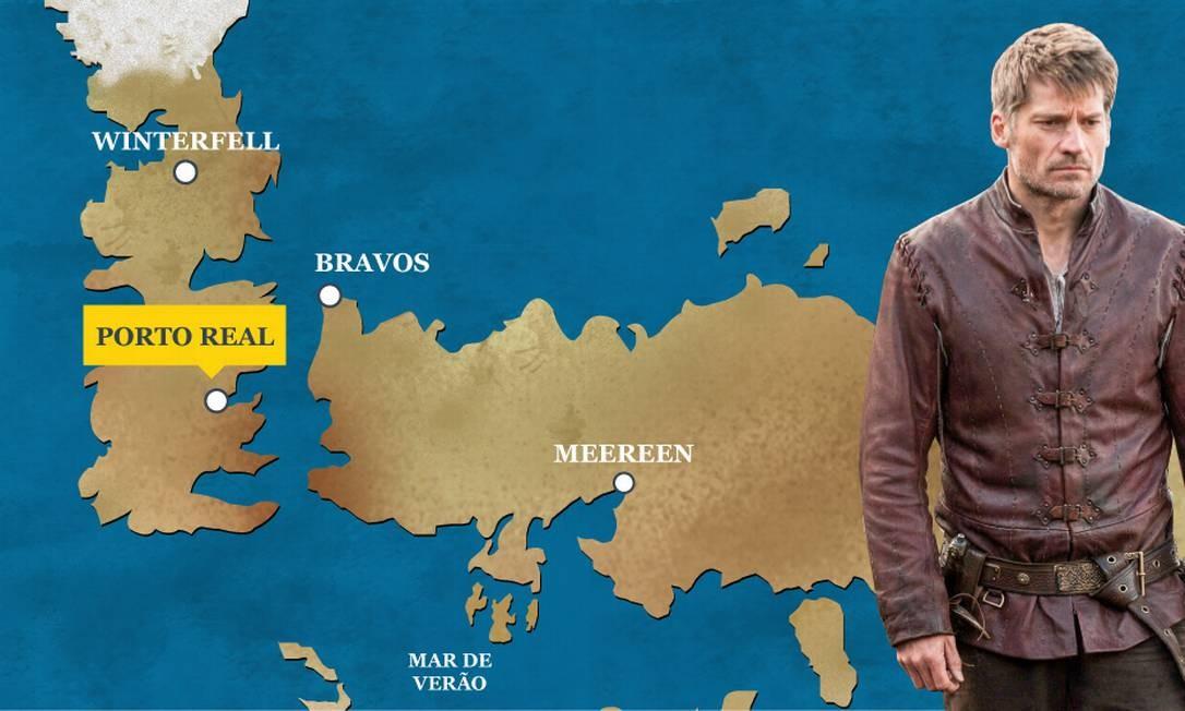 Jaime Lannister chegou a Porto Real a tempo de ver sua irmã e amante, Cersei, ser coroada Rainha dos Sete Reinos após a morte de Tommen e a explosão do Septo de Baelor. O Globo
