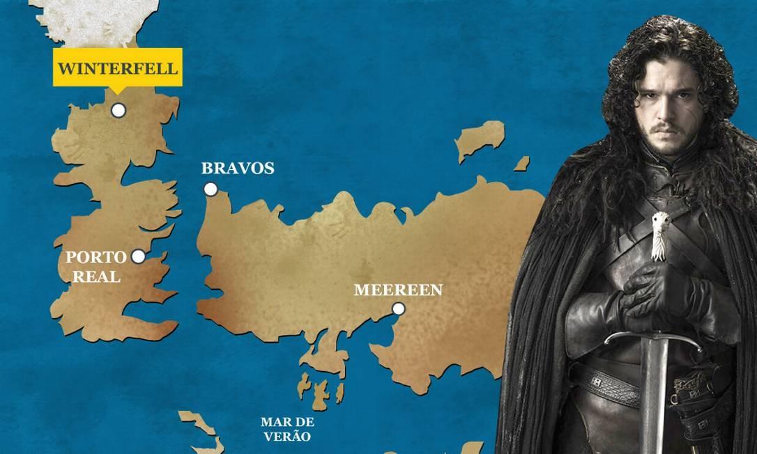Com a retomada de Winterfell após a épica Batalha dos Bastardos, Jon é agora o Rei do Norte. Coroado pelas casas nobres da região e apoiado pelos selvagens e cavaleiros do Vale, ele reconhece como principal ameaça os Caminhantes Brancos. O Globo