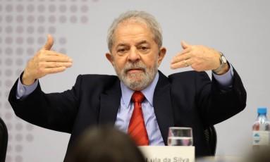 O ex-presidente Luiz Inácio Lula da Silva Foto: Jorge William / Agência O Globo / 24-4-17