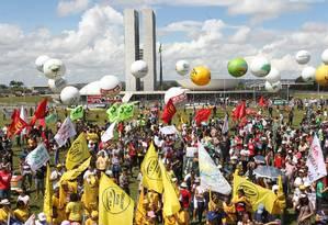 Mudança. Manifestação, em abril, contra a reforma trabalhista: para a Força, sindicatos atuantes não terão problema Foto: Givaldo Barbosa / Givaldo Barbosa/28-4-2017