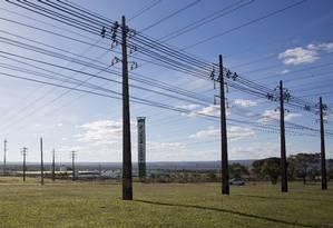 Linhas de energia elétrica no Noroeste em Brasília. Foto Michel Filho / Agência O Globo