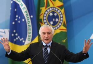 O presidente Michel Temer Foto: Adriano Machado / Reuters