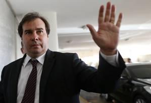 O presidente da Câmara, Rodrigo Maia Foto: Adriano Machado / Reuters