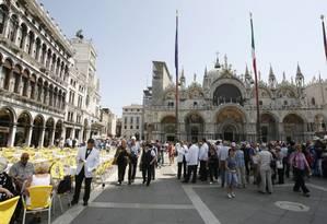 Turistas circulam pela Piazza San Marco em Veneza - 27/05/2009 Foto: Pablo Jacob / Agência O Globo