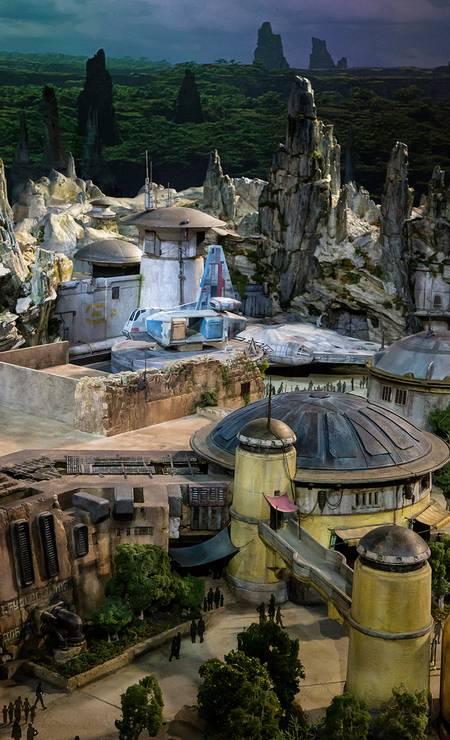"""A área temática reproduzirá um planeta ainda desconhecido do universo de """"Star Wars"""", um posto comercial antes do """"espaço selvagem"""" Foto: Disney Parks Blog / Reprodução"""