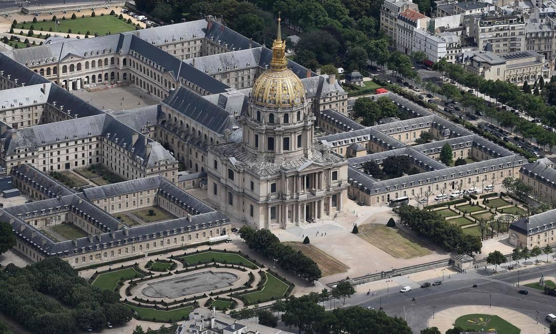 Vista do Hotel National des Invalides (Palácio dos Inválidos) Foto: JEAN-SEBASTIEN EVRARD / AFP
