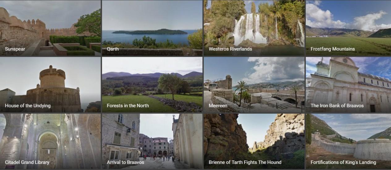 Locações de 'Game of thrones' no Google Maps Foto: Reprodução