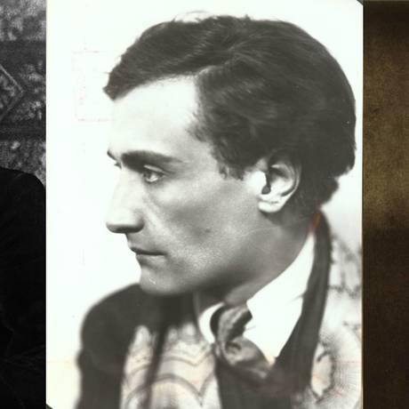 Os autores Robert Stevenson, Antonin Artaud e Henry James Foto: Arquivo / Agência O GLOBO
