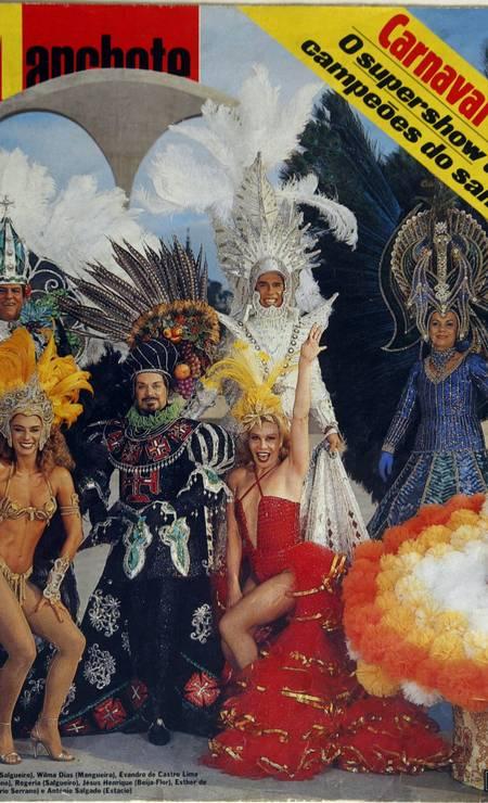 Na capa da revista Manchete, em 1984 Foto: Reprodução