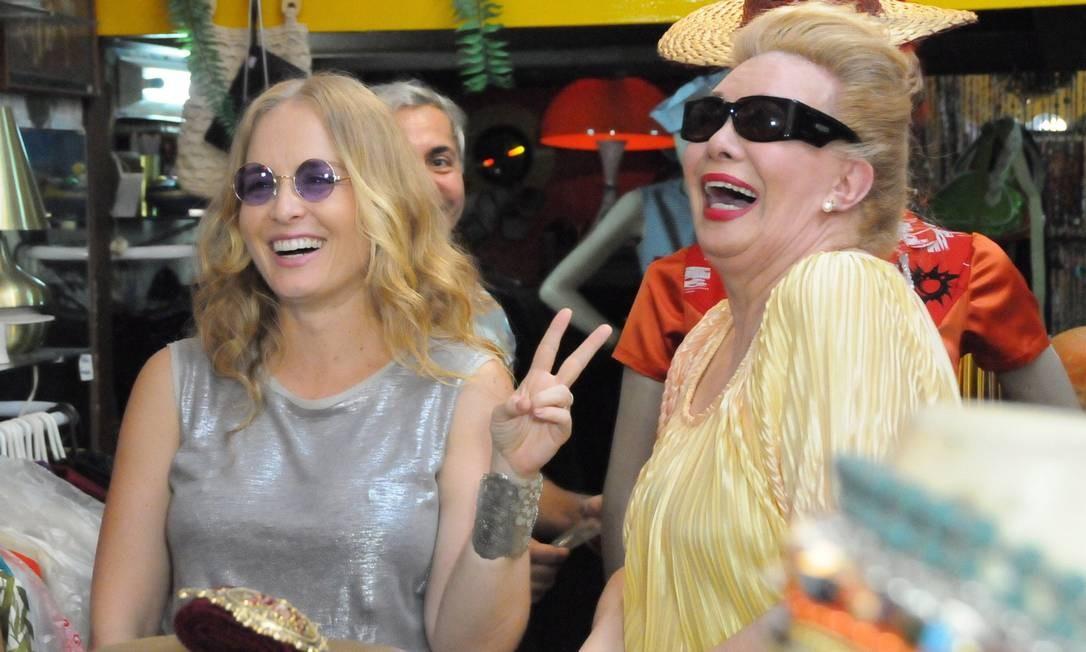 Com Angélica no programa 'Estrelas', em 2013 Foto: Divulgação