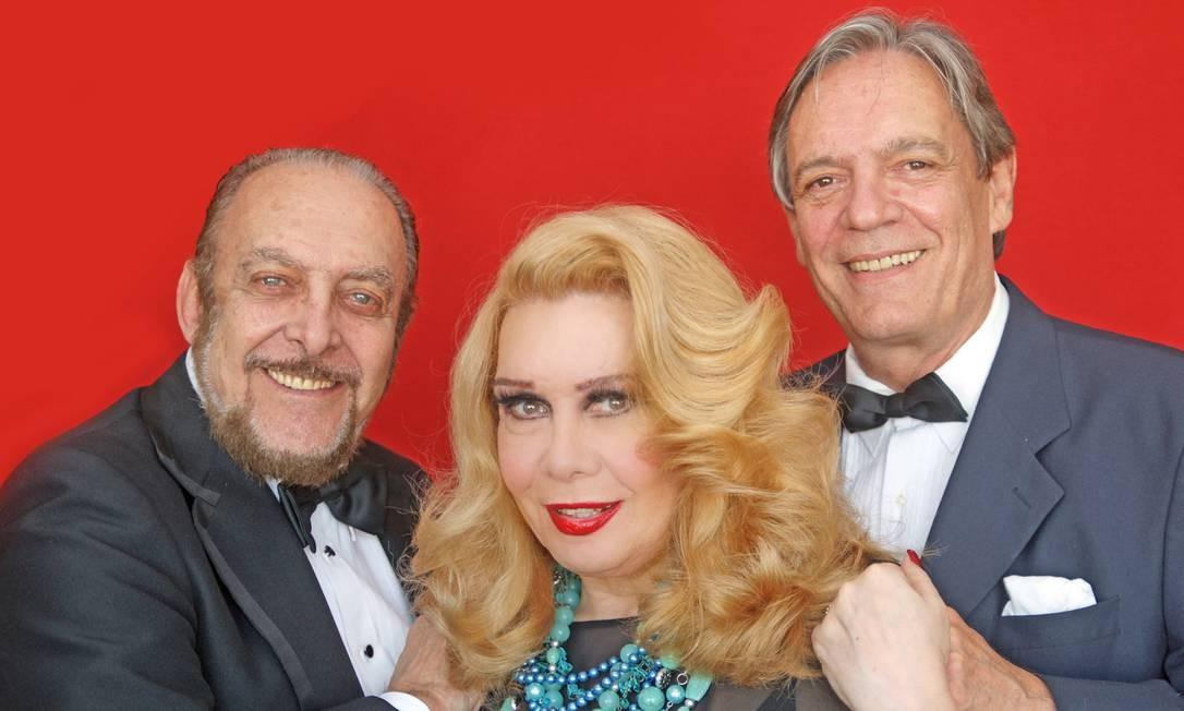 Miele, Rogéria e Chico Caruso, o elenco do show 'Homenagem a Trois' Foto: Divulgação