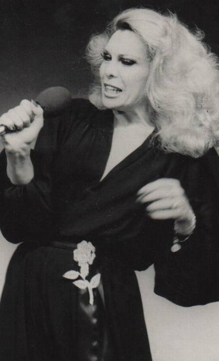 Em 1970, durante show de Agildo Ribeiro Foto: Arquivo