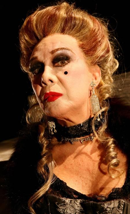 Caracterizada para o musical Foto: Simone Marinho / O Globo