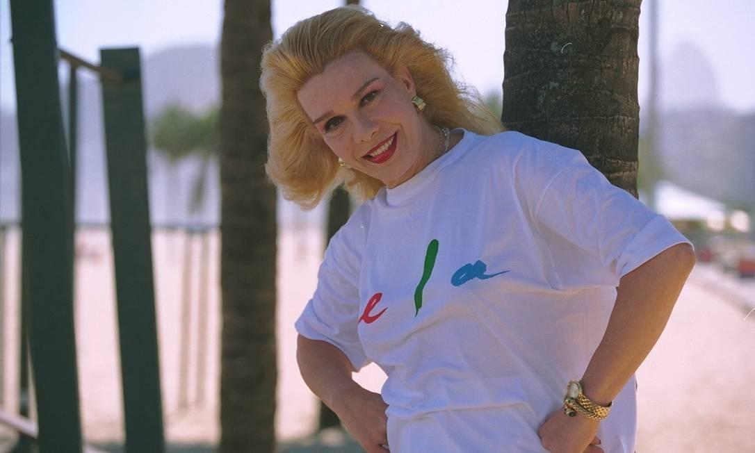 Rogéria ganhou um perfil na revista 'Ela', em abril de 1997 Foto: Marco Antônio Teixeira / O Globo