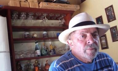 Lula no sítio de Atibaia, em uma das imagens que aparecem na denúncia do MPF Foto: Reprodução
