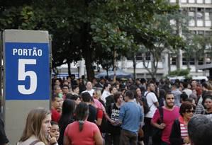 Mais de 40 mil estudantes são esperados para o exame Foto: Thiago Freitas / Agência O Globo