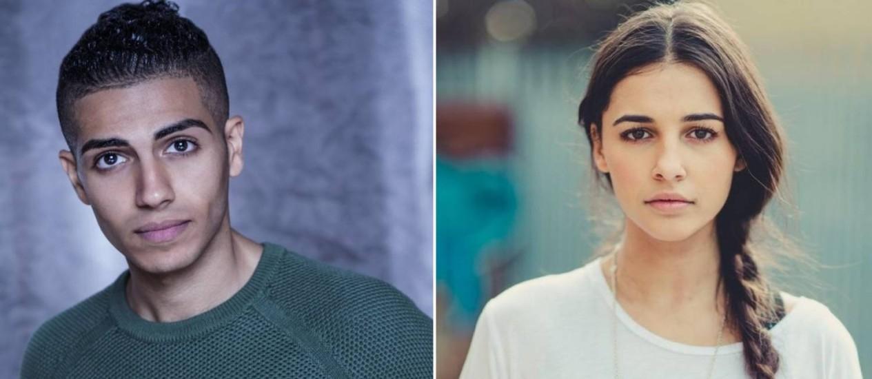 Mena Massoud (Aladdin) e Naomi Scott (Jasmine) Foto: Reprodução
