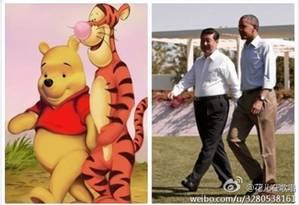 Internautas comparavam o presidente chinês, Xi Jinping, com o Ursinho Pooh Foto: REPRODUÇÃO/WEIBO