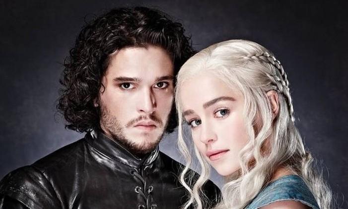 Jon Snow (Kit Harington) e Daenerys Targaryen (Emilia Clarke) Foto: Reprodução