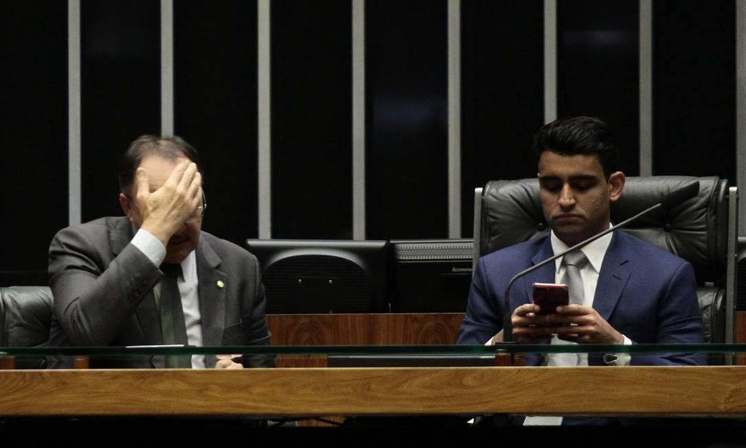 Sessão Não Deliberativa presidida pelo deputado JHC (PSB-AL) Jorge William / O Globo
