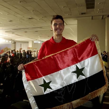 Hafez al-Assad, filho do ditador sírio Bashar al-Assad, na Olimpíada Internacional de Matemática Foto: Fábio Guimarães / Agência O Globo