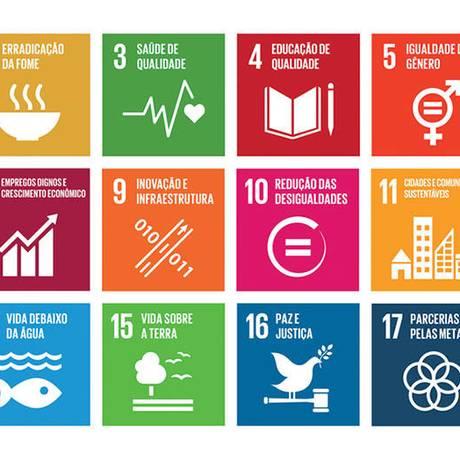 Objetivos contratados pelos países signatários da ONU para cumprimento até 2030 Foto: DIVULGAÇÃO/ONU
