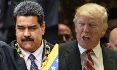 Maduro e Trump: clima esquenta entre EUA e Venezuela Foto: Reprodução