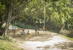 Local escolhido para o projeto é utilizado por adeptos do tai chi chuan Foto: Analice Paron / Agência O Globo