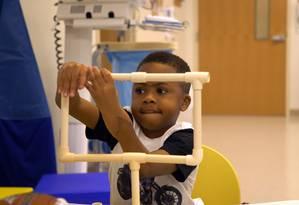O menino Zion Harvey: cirurgia pioneira em crianças Foto: Divulgação