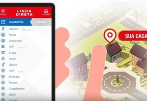 Aplicativo permite que usuários informem crimes diretamente ao batalhão da PM Foto: Reprodução