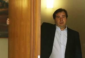 O presidente da Câmara, Rodrigo Maia, em sua residência oficial. Foto: Jorge William / O Globo