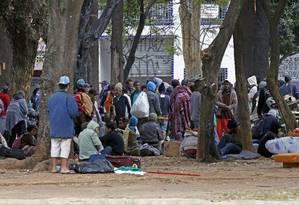 Usuarios de crack voltam a ocupar a praça Princesa Isabel Foto: Edilson Dantas / Agência O Globo