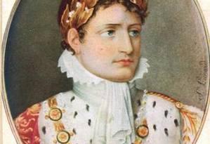 Retrato de Napoleão Bonaparte Foto: Acervo O GLOBO