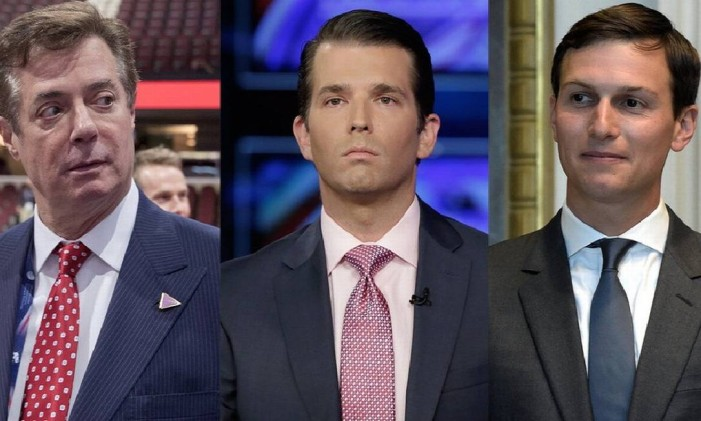 Manafort, Trump Jr. e Kushner: na mira Foto: Reprodução