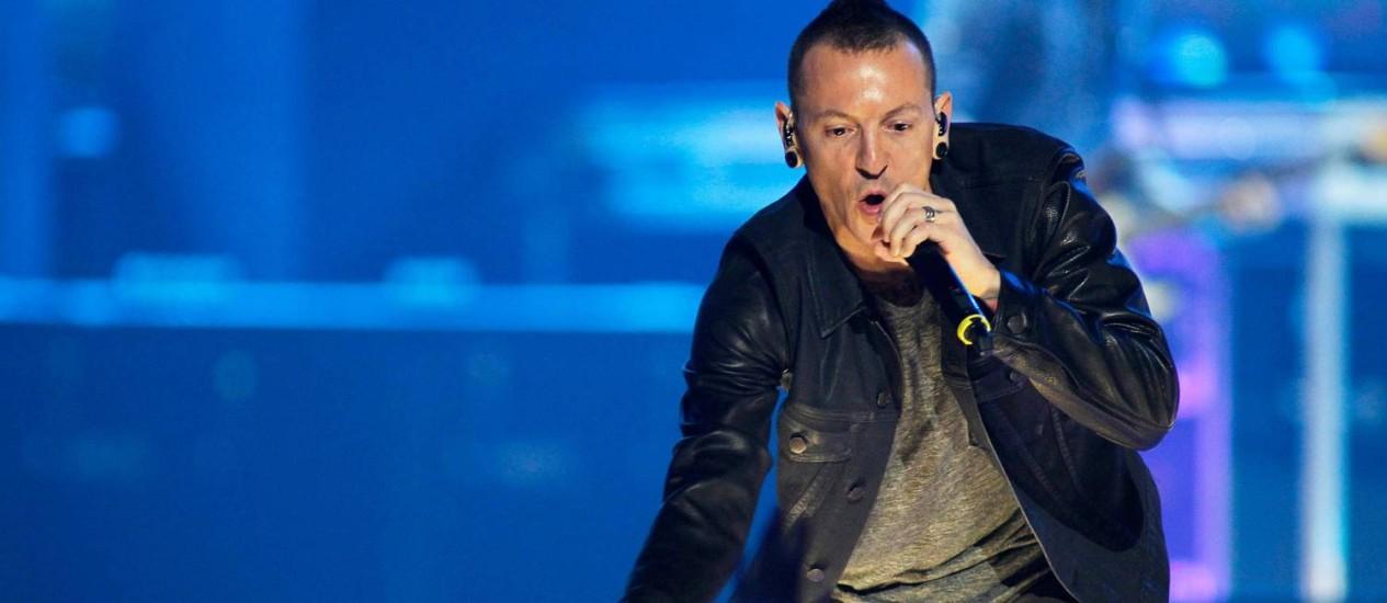 O vocalista do Linkin Park, Chester Bennington Foto: Steve Marcus / REUTERS
