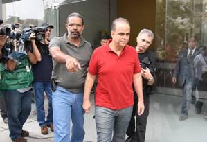 Confissões. Marcos Valério é preso em Minas Gerais: delação precisa ser homologada no STF Foto: Marcelo Prates/Hoje Em Dia/02-12-2011