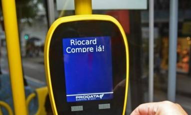 Validador de Bilhete Único em Ônibus Foto: Henrique Freire / Agência O Globo