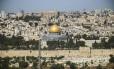 O Domo da Rocha, na Cidade Velha de Jerusalém