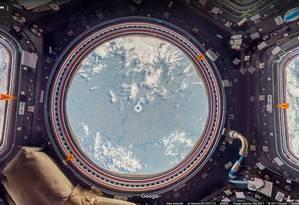 Pela cúpula, os astronautas têm uma visão privilegiada da Terra Foto: GOOGLE STREET VIEW