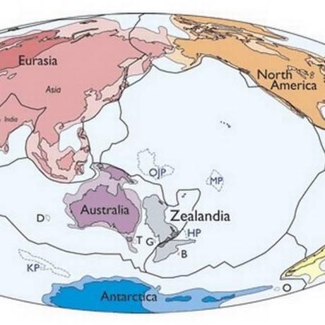 Continente tem tamanho correspondente a dois terços da Austrália Foto: Divulgação