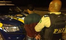Alexsandro de JesusMontenegro Silva, hoje com 19 anos,foi preso por agentes da Polícia Rodoviária Federal (PRF) Foto: Divulgação / Divulgação
