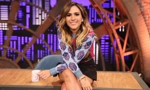 Tatá Werneck grava a segunda temporada do programa 'Lady night', do Multishow Foto: Divulgação / Multishow/Gianne Ca