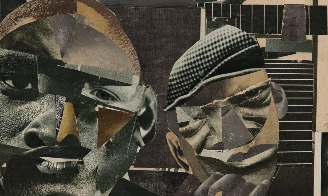 """Colagem. """"Pittsburgh Memory"""" (1964), de Romare Bearden: o artista, fundador do grupo Spiral, propôs o uso de recortes, rechaçado por seus companheiros Foto: Divulgação/Collection of Halle / Divulgação/Collection of Halle"""